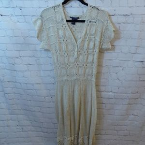 Boston Proper Crochet Dress Size 6